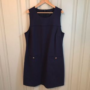 Eloquii plus dress size 22 gold buttons navy
